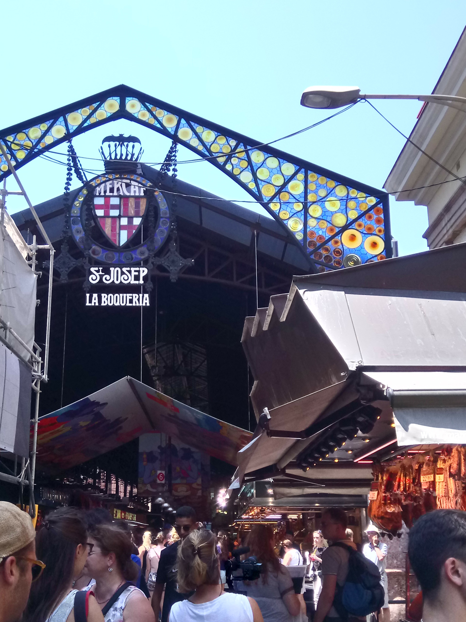 La Boqueria - the main entrance