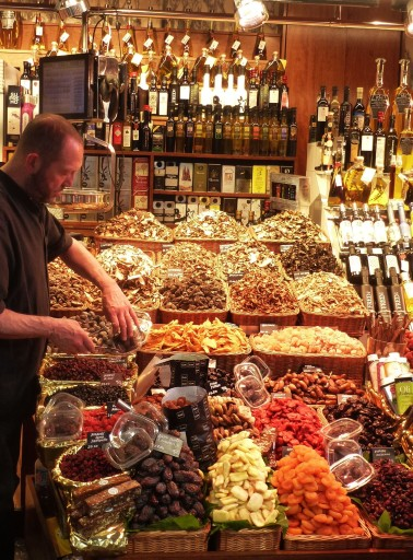 The stall of Mr. Carles is one of our favorite stops during the tour of La Boqueria.