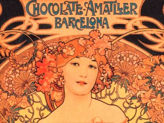 The packaging of Amatller includes arworks by Alphonse Mucha, among many other important artists of the beignning of the 20th century.