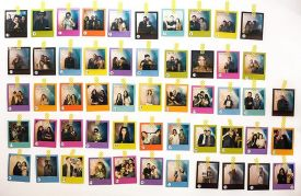 The vintage charm of a polaroid collection