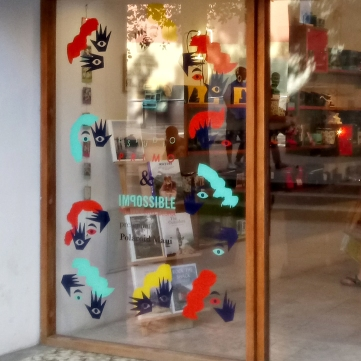 The Impossible shop window looks cheerful and original.