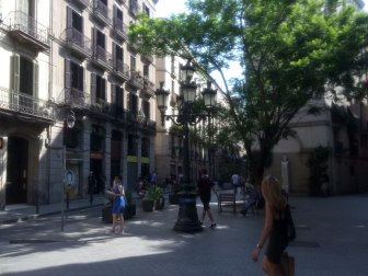 Carrer d'en Tantarantana crosses Princesa - a street that leads you, in a few minutes, right to Via Laietana.