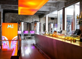 In 2011 the building reopened after an extensive renovation by French architect Jean Nouvel. This is the part of interior with the operating tanks and the raw fish and seafood bar.