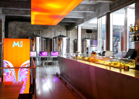 The architectural project belongs to In 2011 the building reopened after an extensive renovation by French architect Jean Nouvel. This is the part of interior with the operating tanks and the raw fish and seafood bar.