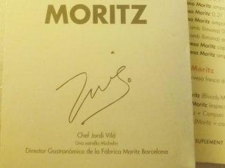 Gastronomic director Jordi Vilà signs the menu.