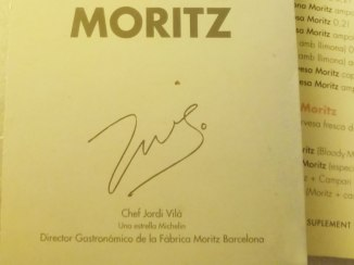 Gastronomic director Jordi Vilà signs the menu.