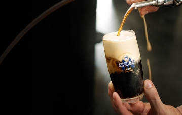 Fresh unpasteurized beer, brewed daily, is available at the bar and the restaurant.