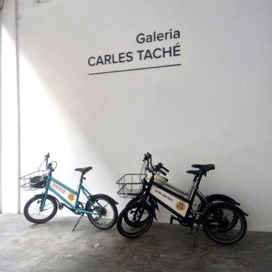Art Bike Tour: Parking at Carles Taché