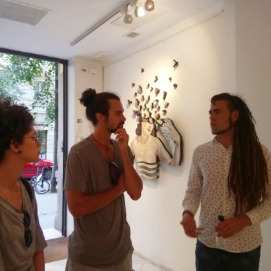 Art Bike Tour: having a conversation with the artist - Uriginal Exbition at N2 Galeria