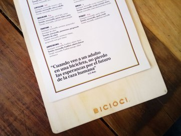 Bicioci Menu
