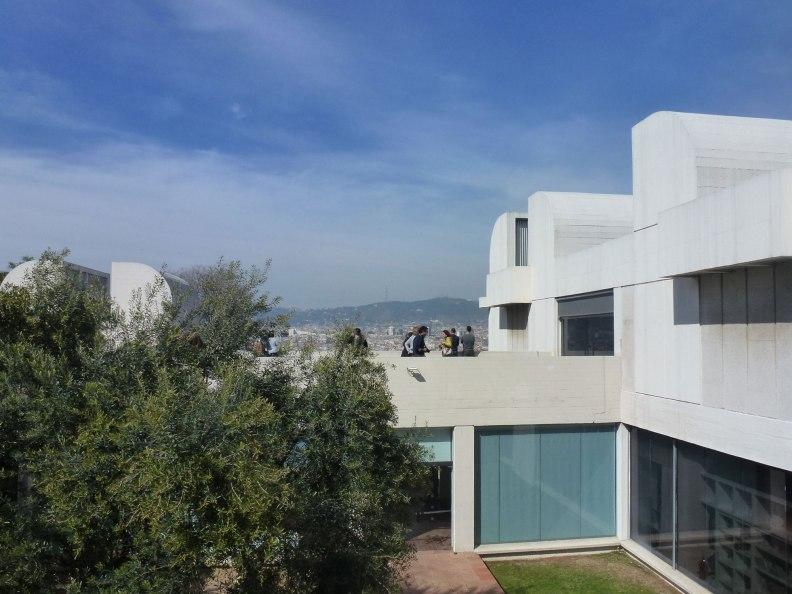 Joan Miro Foundation upper terrace
