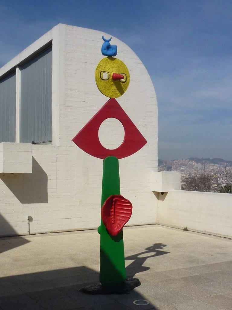 Joan Miro The caress of a bird sculpture