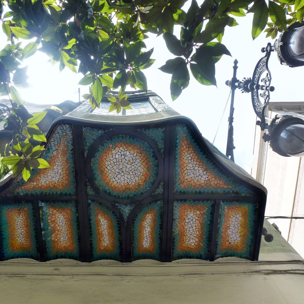 Casa Francesc Cama balcony detail trencadis