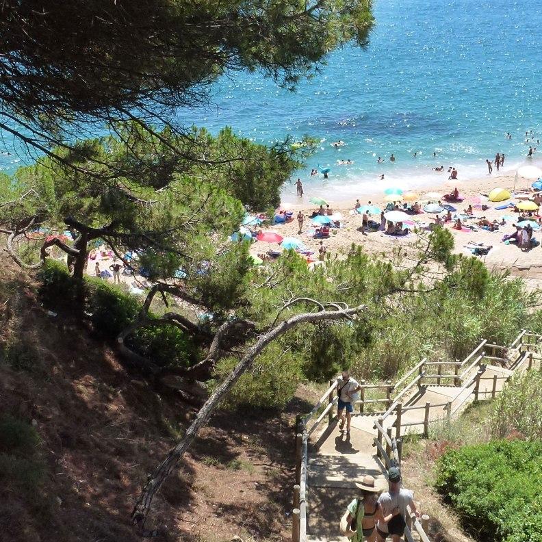 Sant Pol de Mar Rocagrossa beach