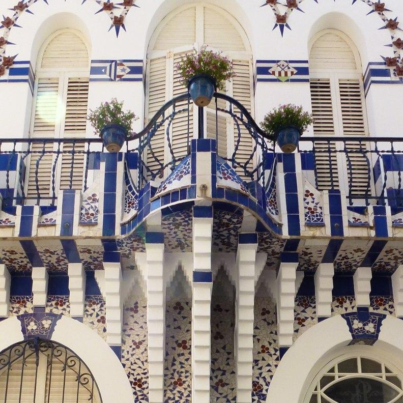 Sant Pol de Mar Can Planiol house facade
