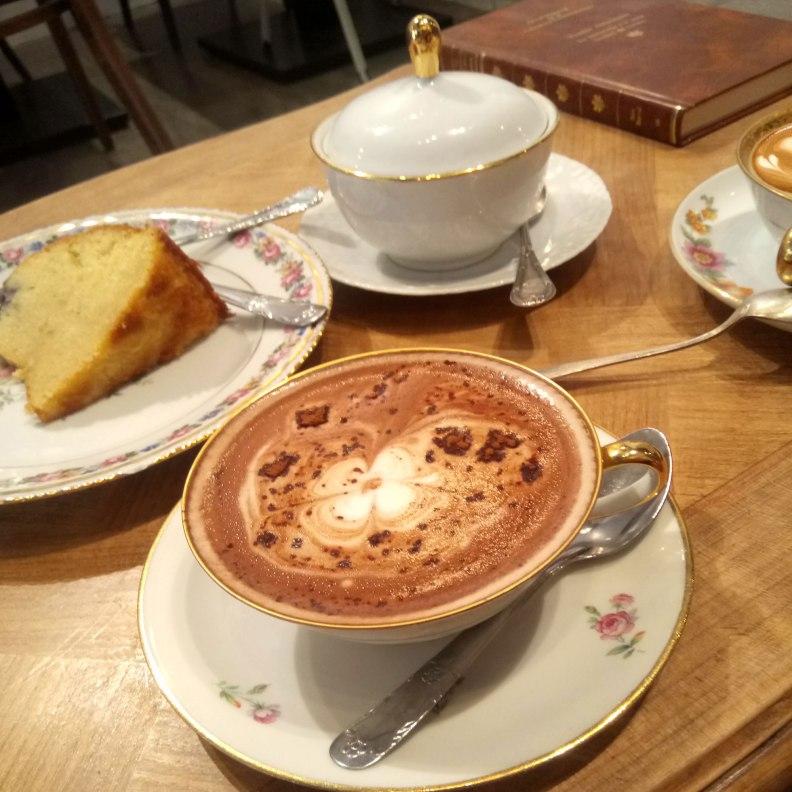 Camelia Art Cafe hot chocolate