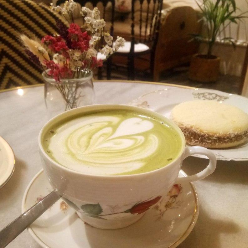 Camelia Art Cafe matcha latte