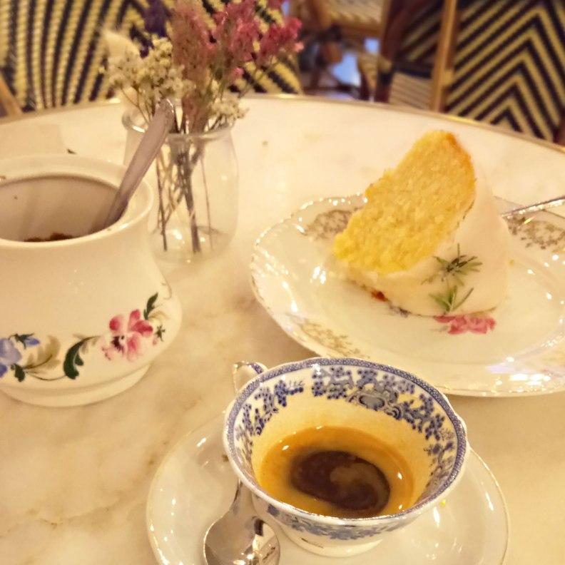 Camelia Art Cafe espresso and rosemary cake